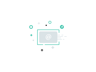 Newsletter Icon light green icon @ psd photoshop mail newsletter check layered shape vector