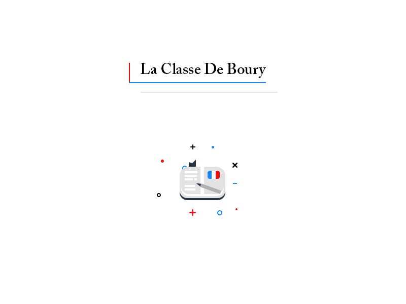 Logo. La Classe De Boury home french class documents book translate photoshop psd professor language teacher