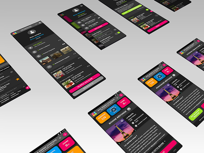 Culturo'Game. App app application android hybrid ios ui ux mock up psd photoshop dark game