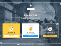 Pricing tabs