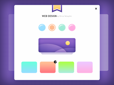 WebDesign by Me #Freebies ux ui webdesign cross photoshop psd check gradients colors ribbon freebies free
