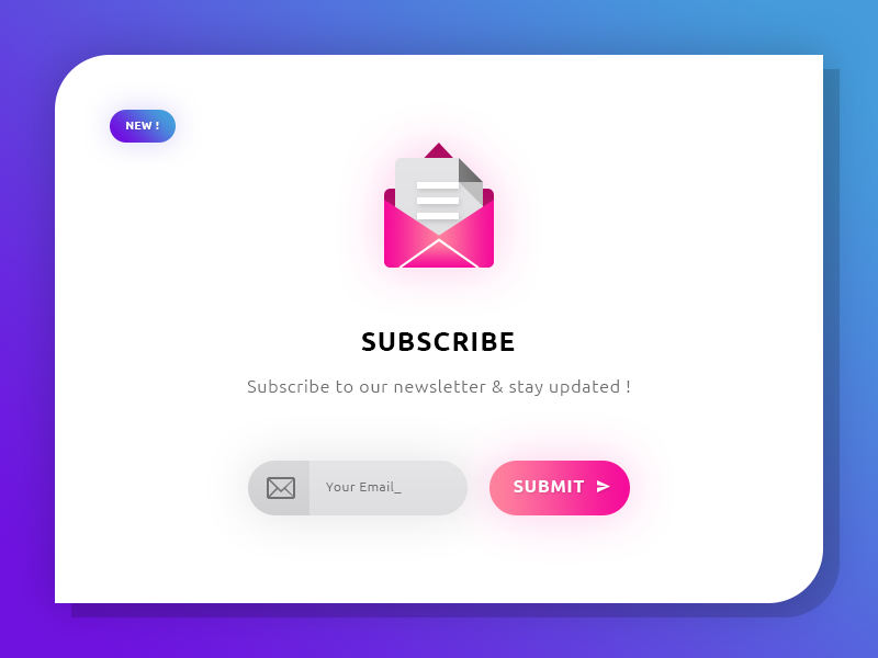 Newsletter Subscribe #Freebies grdient ux ui button input mailing mail icons psd photoshop freebies free
