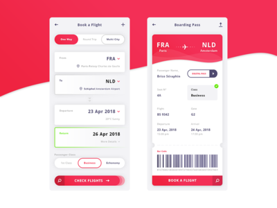 Flight App. UI Kit #Freebies