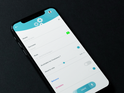 Edit Settings Profile App #Freebies