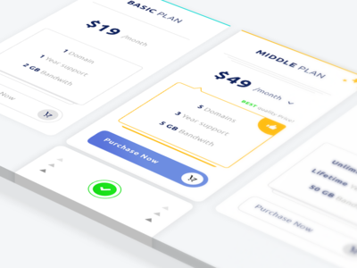 Simple Pricing Table #Freebies purchase plan dollar mock up freebies free photoshop psd tabs pricing table ux ui