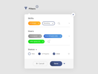 Filters Widget UI Design #Freebies