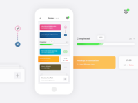 To Do List / Tasks. App UI - UX #Freebies