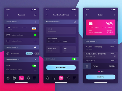 Finance. IOS App #Freebies icons history credit card visa pay now orders add credit card payment psd photoshop free freebies ios app ui ux