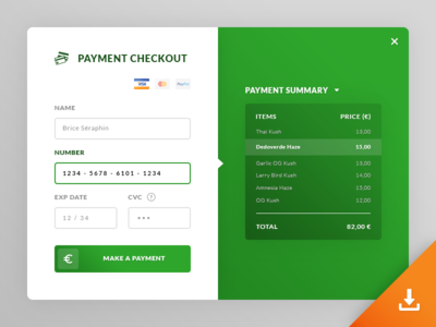 Payment Checkout UI #Freebies