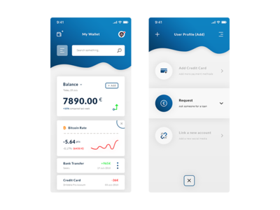 Wallet & User Profile Add. App #Freebies bitcoin icons add user profile free freebies ios app ui ux psd photoshop graph curves cryptocurrencies wallet