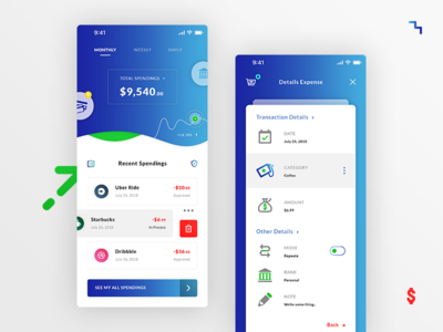 Money Spending. IOS App #Rebound #Freebies dollar filters interaction wave switch button icons free freebies psd photoshop ui ux stats curve details expense money spending
