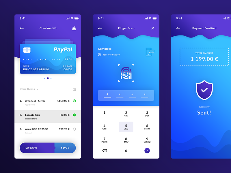 Checkout, Finger Scan & Payment Verified. IOS APP #Freebies shield finger print keyboard items credit card psd photoshop free freebies ui ux ios app payment verified finger scan checkout
