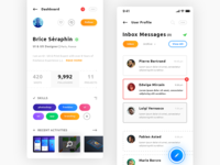 User Profile & Inbox Messages. IOS App #Freebies