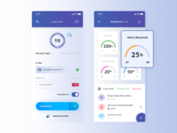 Login & Dashboard Event. IOS App #Freebies