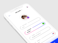 Edit Profile. IOS APP #Freebies
