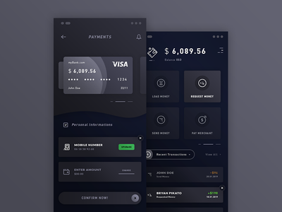 Payments & Wallet. IOS App #Freebies money icons iphone x transactions credit card dashboard wallet free freebies psd photoshop ui  ux ios app payments