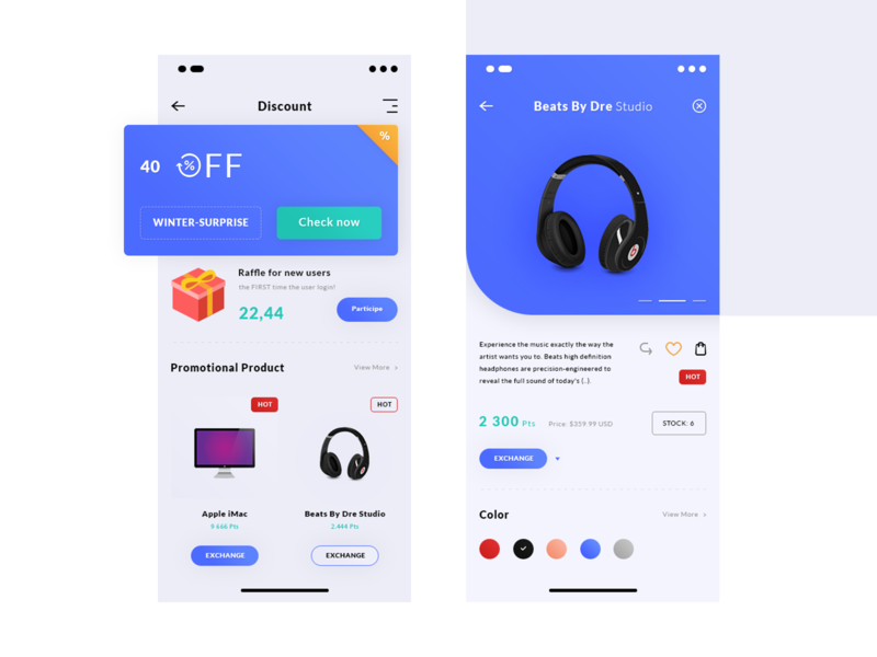 Discount. IOS App #Freebies iphone x colors items product card gits promo free freebies psd photoshop ui ux design beats by dre discount