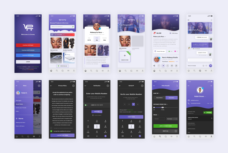 Enomy. App photoshop art purple android app design ios android enomy ecommerce market photoshop psd ux ui