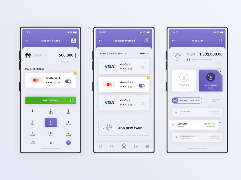 Enomy App. Light enomy app iphone x psd photoshop credit card payment wallet ui ux product design deposit funds ios app light