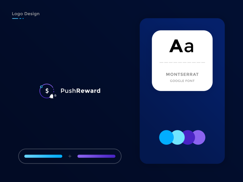 PushReward  Brand by Brice Séraphin 🔥 on Dribbble