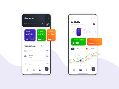 Account & Activity. IOS App #Freebies
