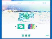 Hollow Boarding Co. Website UI