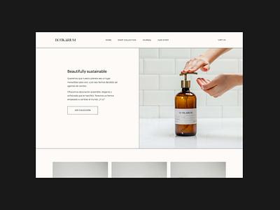 Botikarium Identity ecommerce eco sustainable visual identity packaging logo web labels identity brand