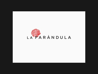 New logo for La Farándula actors agency logotype redesign identity brand logo