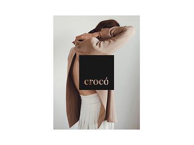 Logo for Croco Barcelona visual identity jewelry brand identity logo