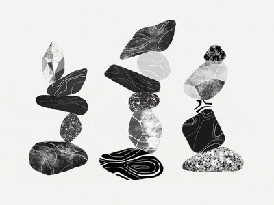 How to find the perfect balance rocks texture illustration craft structure team balance blog typeform