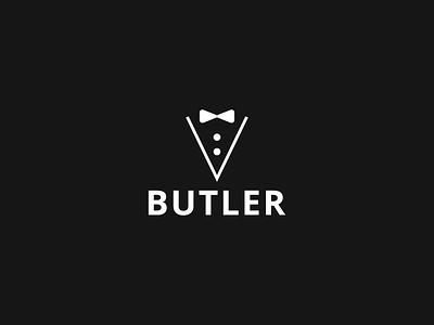 Butler Logo service restaurant bow tie logo butler