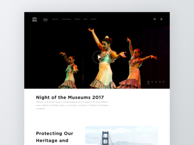 Intangible Cultural Heritage Landing Page for UNESCO website ux unesco video clean gotham ui web intangible cultural heritage landing page