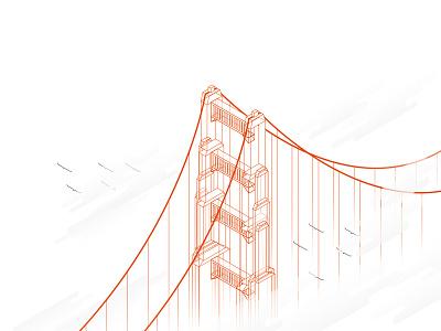 Golden Gate Bridge golden gate bridge san francisco vector illustrator