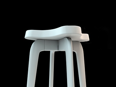 Fantasy Coaching Stool - Initial Concept 3d cinema 4d photoshop stool furniture