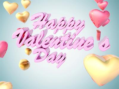 Valentines Dribbble valentines day valentine 3d c4d hearts photoshop