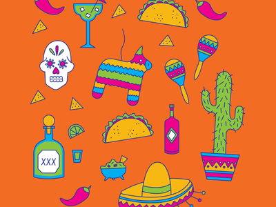 Cinco de Mayo bright palette cinco de mayo holiday illustration