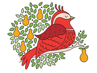 12 Days of Christmas illustraion song holiday christmas