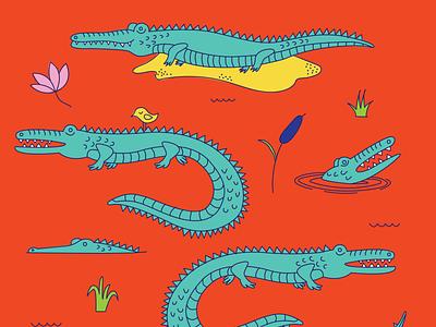 Gators color vector design illustration