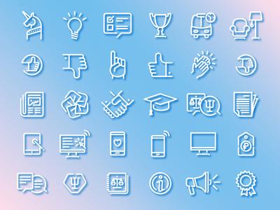 PharmEdu icons set