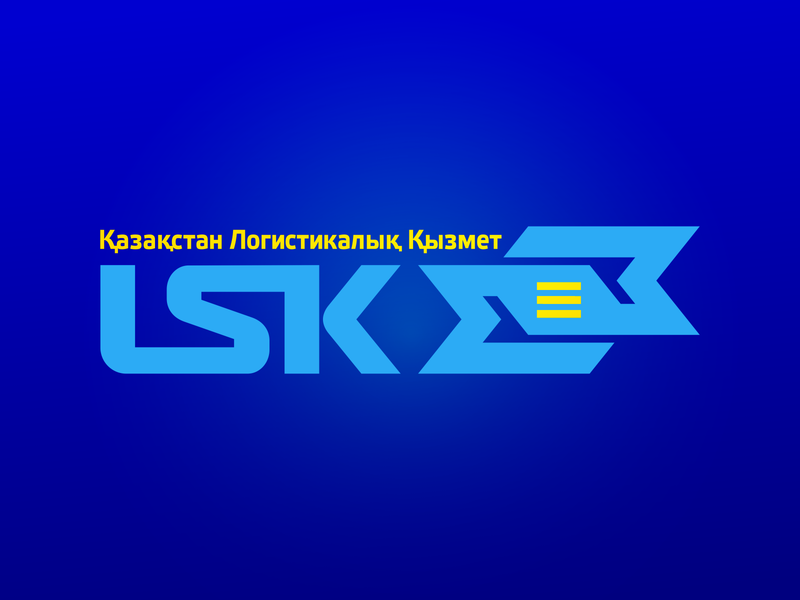 LSK logo old work kazakhstan transport logistic directions arrows logodesign logotype branding