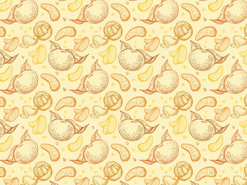 Tangerines pattern