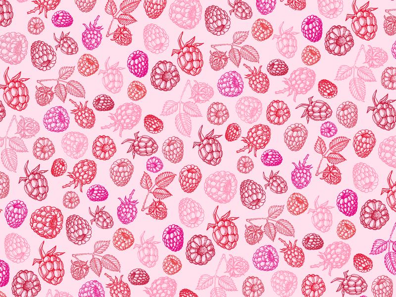 Raspberries pattern
