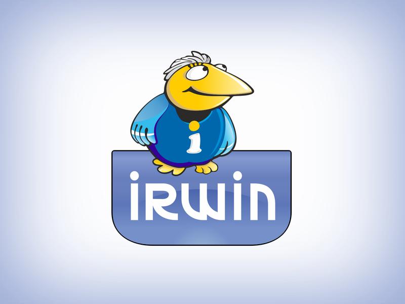Irwin logo & mascot