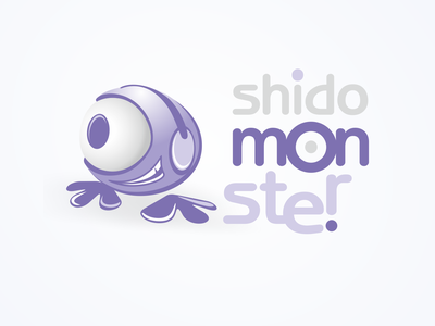 Shido mOn.Ster logo old work one eye trademark winner work logodesign naming concept japan opus award 2003 competitive work branding mascot character design logo illustration vector