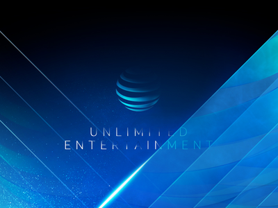 AT&T Entertainment Group Pitch unlimited lights globe glass styleframe design entertainment att