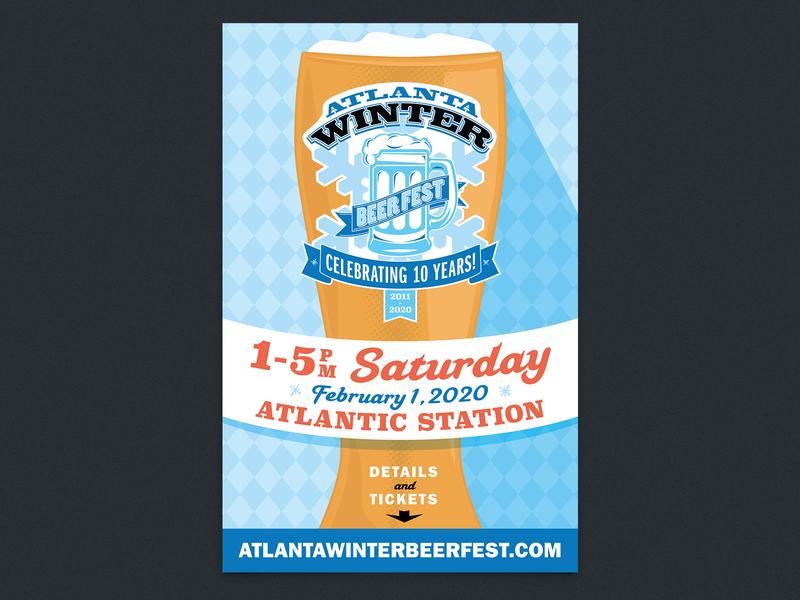 Atlanta Winter Beer Festival beerfest atlanta event poster beer festival poster