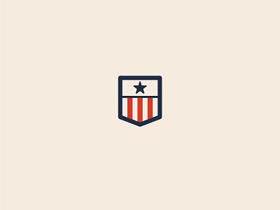 Liberty Shirt Co. Mark logo logo mark american flag startup pocket