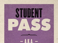 Student pass   front