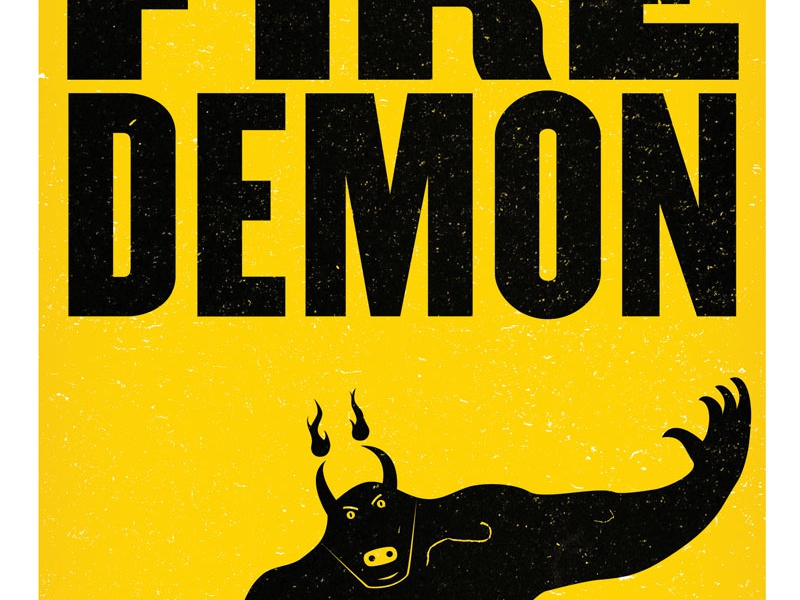 Fire Demon atlas improv co. poster typography screenprint
