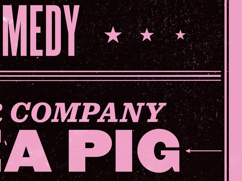 Company Guinea Pig atlas improv co. poster typography screenprint